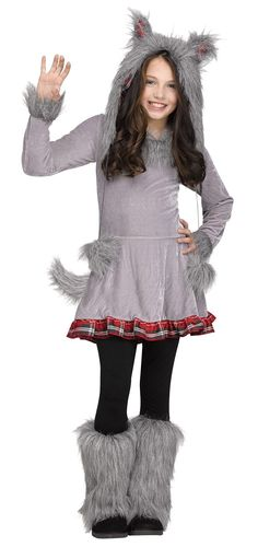 #125122 What's Included: - Dress - Tail - Hood - Boot Covers - Child Size Sizes: M(8-10), L(12-14)