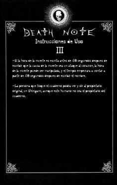 Reglas de uso de Death note Capítulo 0 página 3 - Leer Manga en Español gratis en NineManga.com