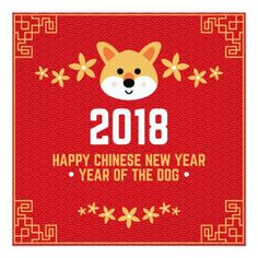 2018 - Happy Chinese New Year Card - New Year's Eve happy new year designs party celebration Saint Sylvester's Day