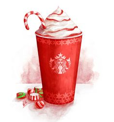 Starbucks Winter Fest Campaign by Mitchell Nelson, via Behance