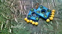 Ethnic Blue Earring