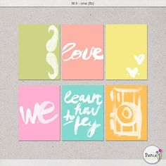 Fill It - One journal cards freebie from Dunia Designs - scrapbook, project life, printable