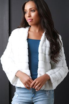 50d3936a19fc Quilted Faux Fur Jacket - Avenue of Angels