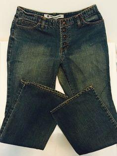 GAP LONG & LEAN Womens Sz 10 Jeans W30 x L31.50  Nice! 4 Button Snap Closure  #Gap #I Need $$ #Please Bid Now