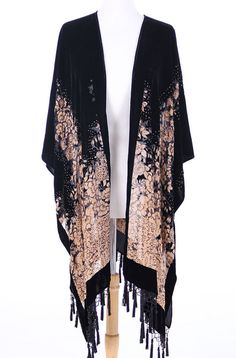 Gypsy Burnout Velvet Kimono Caftan Vintage by AnnNEveleather, $149.00