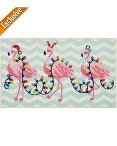Brighten the Season Flamingo Rug