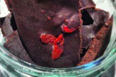 Homemade Goji Berry Chocolates  (Use rice-malt syrup)