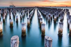 The last of the Old Pier of Port Melbourne, Australia.