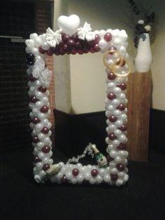 Fotolijst huwelijk                                        GREAT balloon frame for photos...♥ it!