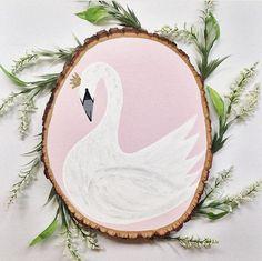 Swan nursery wall decor by Amanda Johnson Designs
