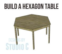 free furniture plans build hexagon dining table from @Cher-Ann Texter - Designs by Studio C