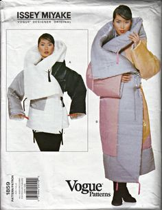 1990's Vogue Issey Miyake Blanket Style Coat by ShellMakeYouFlip