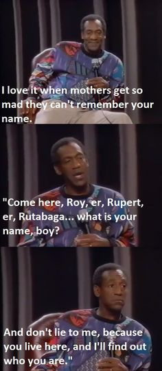 When mothers can't remember your name…
