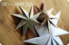 A Lovely Little World: Guest Blogger: Katie with a real cool DIY for paper stars!