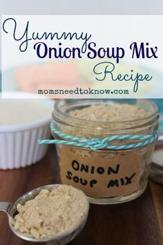 A homemade onion soup mix recipe made from ingredients that you probably already have on hand. Use it instead of grabbing for one of those premade packets!