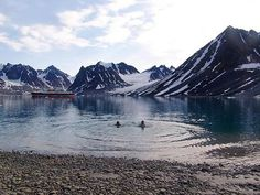 Be adventurous and take a cold swim in Barentsburg, Svalbard. Places To Travel, Places To Visit, Svalbard Norway, New City, Beautiful World, To Go, Around The Worlds, Swimming, Ocean