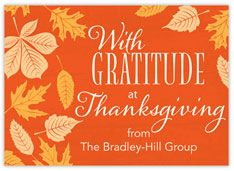 Autumn Graude Thanksgiving Card Greeting Cards Holiday