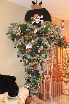 We did the upside down tree Pirates this year Xmas 2014