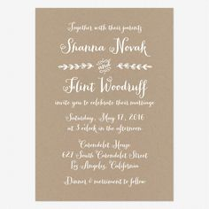 wording for wedding invitations | rustic country invitation $ 95 00 from love vs design
