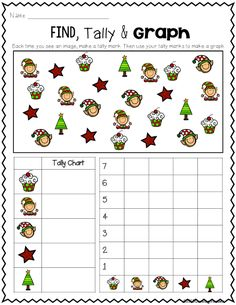 Primary Chalkboard: FREEBIE - Find, Tally & Graph Christmas