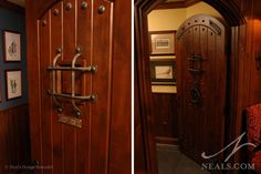 Door to the Loo in our English Pub  #nealsdesign  www.neals.com