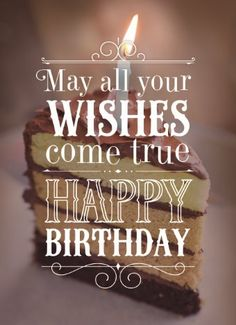 May all your wishes come true! Happy Birthday. #Hallmark #HallmarkNL #verjaardag #wenskaart