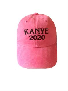Kanye 2020 Custom Embroidered Baseball Cap  Recently, during the 2015 MTV VMA awards, Kanye West announced that he will be running for president