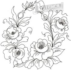 Embroidery patterns redwork ideas 55 ideas for 2019 Ribbon Embroidery, Cross Stitch Embroidery, Embroidery Patterns, Machine Embroidery, Art Patterns, Flower Patterns, Embroidery Thread, Quilt Patterns, Tole Painting