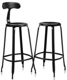 Tabouret et chaise NICOLLE H 80.  LOVE these counter stools. right height and width.  can customize the color!!!