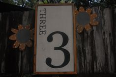 Number 3 Decor Sign.  No. 3 - Perfect for Vignettes & Collages. by MiddletonMercantile on Etsy