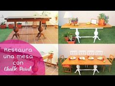 Transforma una Mesa con Chalk Paint + Aprende a elegir tus Brochas - YouTube