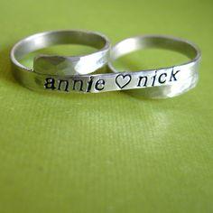 2 finger aluminum ring - $16 - Etsy.