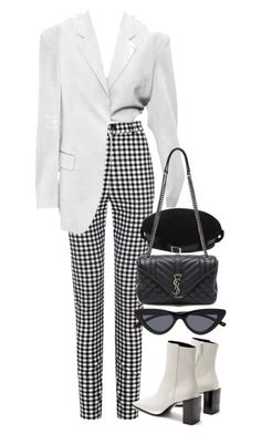 """Untitled #11589"" by nikka-phillips ❤ liked on Polyvore featuring Yves Saint Laurent and Balenciaga"