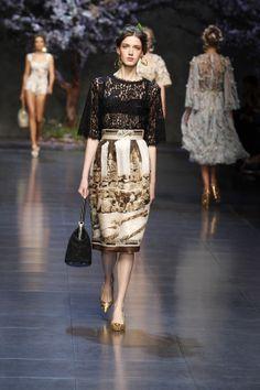 dolce and gabbana ss 2014 women fashion show runway 07 zoom