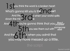 1st, 2nd, 3rd, 4th 5th is all painful but the 6th is the hardest because you realize you might have been the one who messed up!