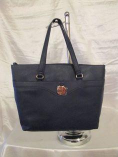 Bag Tommy Hilfiger Handbag Shopper 6930468 423 Color Blue Gold Retail $ 89.00 #TommyHilfiger #Shopper