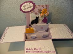 Cricut Love You  A Latte- The Scrappin Rabbit: Mother's Day Tea- Card in the Box