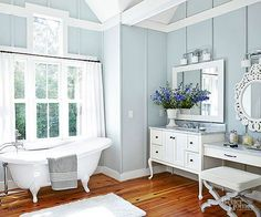 Remodel your bathroom with vintage style decorating ideas that are both pretty and budget friendly. Clever storage tricks keep you organized while textures and prints add visual interest to the space. Easy farmhouse style and DIY projects let you add your own personal touch.