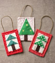 Patchwork Tree Ornaments - Quilting Digest