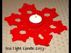 Crochet a Tea Light Candle Cozy Tutorial - YouTube