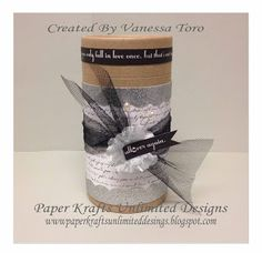Paper Krafts Unlimited Designs: Altered My Creations Kraft Container & For Always paper collection