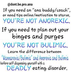 Eating disorders do not require tips or motivation or willpower....Wannarexia is a made up illness, Anorexia and Bulimia are two completely different illnesses (you literally cannot be both anorexic and bulimic) Eating disorders have criterias for a reason....and its not so you can diagnose yourself. By all means, if you want to diet, that is your decision...it does not mean its okay for you to mock eating disorders in the name of your silly diet