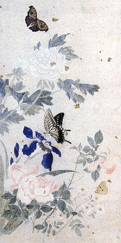 남계우(南啓宇)의 나비 그림 호접(蝴蝶) 감상 (1811-1888)사대부 화가 남구마만의 5대손 남계우는 나비만을 그려 남나비라는 별칭도 갖고 있습니다. 아들보고도 나비를 그리라고 권하기도 했답니다.