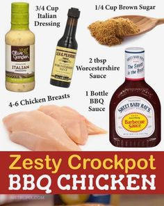 Olive Garden Italian Dressing, Crockpot Recipes, Healthy Recipes, Chicken With Olives, Weekly Meals, Olive Gardens, Personal Chef, Barbecue Sauce, Bbq Chicken