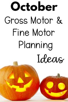 October Gross Motor and Fine Motor Activity ideas. Fun theme ideas for the month of October that incorporate motor skills. Make movement and learning fun all October long! Fine Motor Activities For Kids, Infant Activities, Outdoor Activities, Agility Ladder Drills, Fire Safety Week, Kinesthetic Learning, Physical Therapy Exercises, Motor Planning, Gross Motor Skills