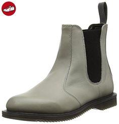 Dr. Martens FLORA Burnished Servo Lux GREY, Damen Chelsea Boots, Grau (Grey), 36 EU (3 Damen UK) (*Partner-Link)