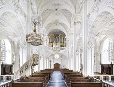 Candida Höfer, Dominikanerkirche Sankt Andreas Düsseldorf II  , 2011, C-print, 70 7/8 x 87 7/8 inches.© CANDIDA HÖFER, KÖLN/ VG BILD-KUNST, BONN/ COURTESY SEAN KELLY, NEW YORK