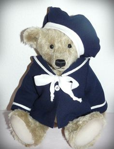 SAILOR JACKET & CAP, suitable for antique teddy bears and dolls