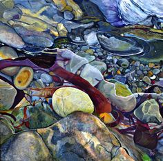 Oil on canvas 100x100cm. Sheila Robinson Art