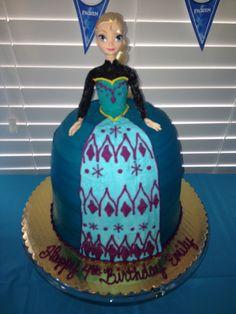 Disney Frozen cake. My daughter loved her Elsa cake!!!!